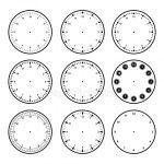 Стрелки для часов шаблон – ᐈ Циферблат шаблон — векторные изображения, рисунок циферблат шаблон > скачать на Depositphotos®