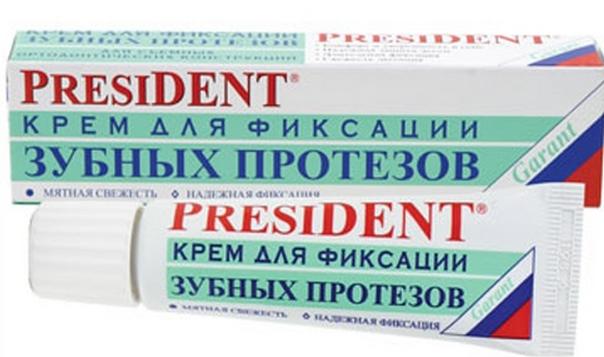 President крем для фиксации протезов